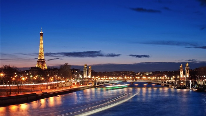 Seine River At Night-Cities HD Wallpaper Views:2258