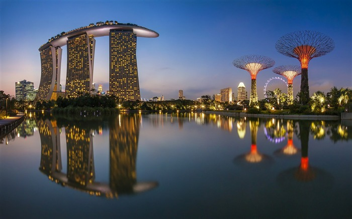 Singapore Night-Cities HD Wallpaper Views:2216