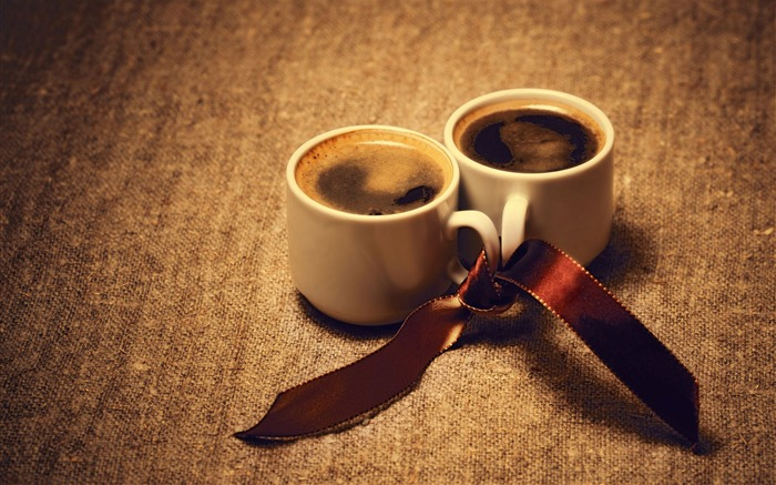 coffee cups ribbon-HD Widescreen Wallpaper Views:2540