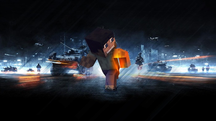 minecraft in battlefield-Games HD Wallpaper Views:2826