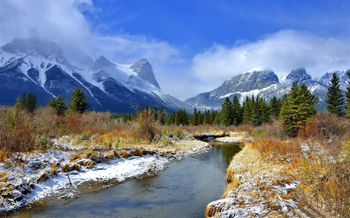 river mountains beauty-Nature HD Wallpaper Views:3375