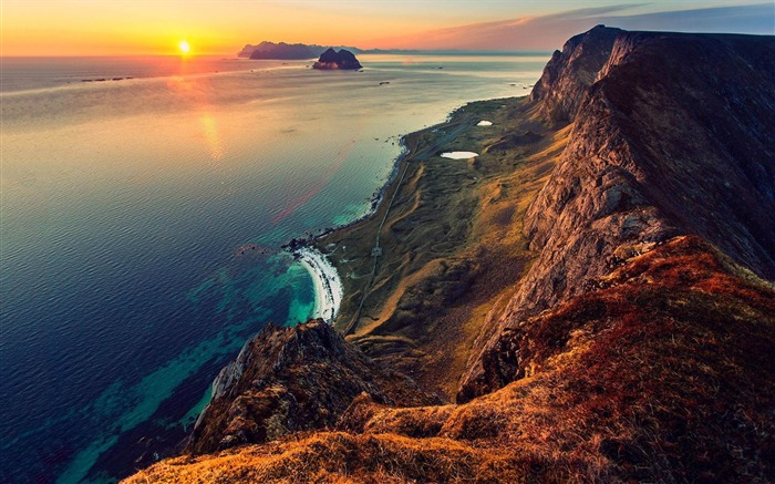 sunset from mountain-HD Widescreen Wallpaper Views:2622
