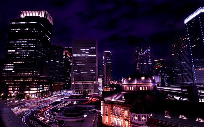 tokyo night view-Cities HD Wallpaper Views:1909