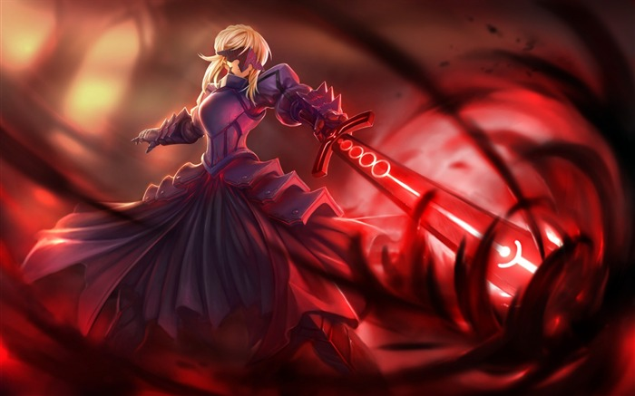 anime girl dress sword-Design Widescreen Wallpaper Views:2703