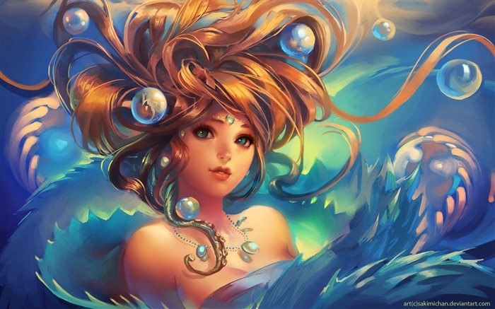 beautiful game girl-Design Widescreen Wallpaper Views:2034