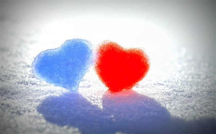 blue red snow hearts-2015 Valentines Day HD Wallpaper Views:5214 Date:2/14/2015 5:46:14 AM