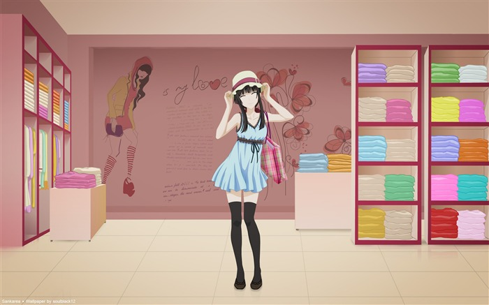 sankarea shop anime girl-Design Widescreen Wallpaper Views:3518