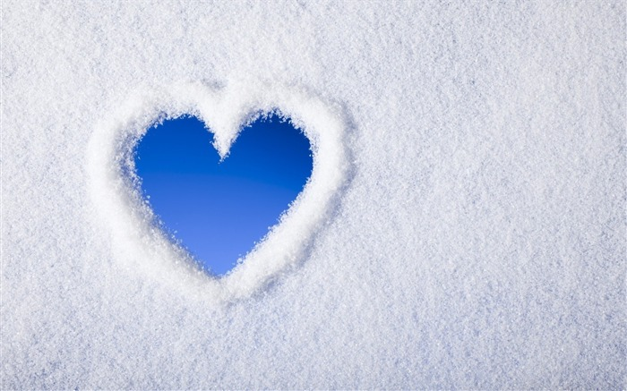 snow heart-2015 Valentines Day HD Wallpaper Views:3599 Date:2/14/2015 5:58:03 AM