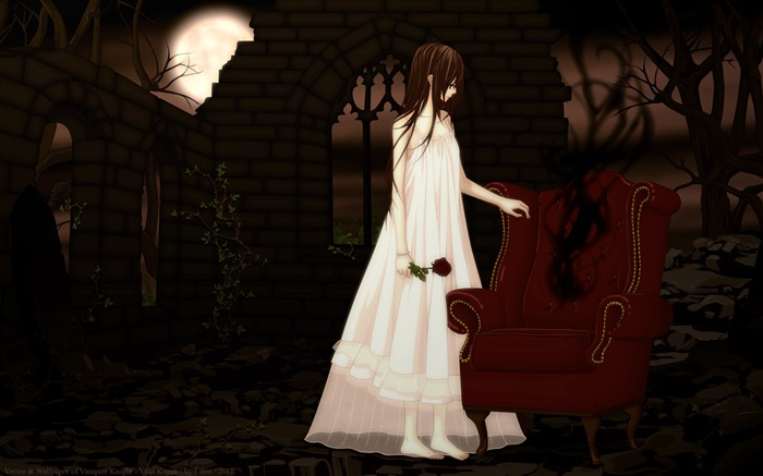 vampire knight yuki-Design Widescreen Wallpaper Views:1792
