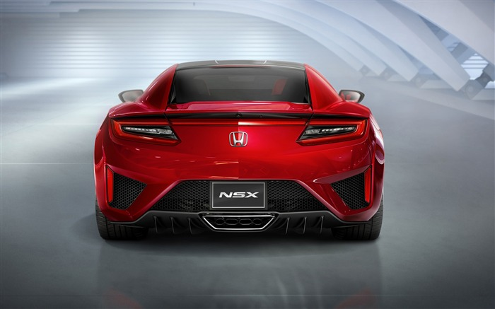 2015 Honda Red NSX Back View Auto HD Wallpaper Views:3704
