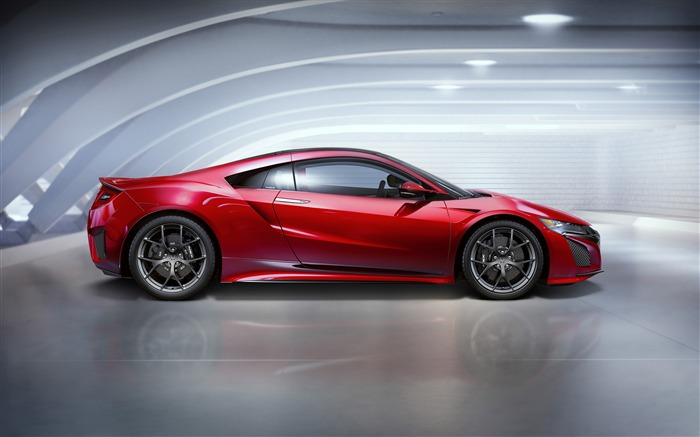 2015 Honda Red NSX Side View Auto HD Wallpaper Views:3432
