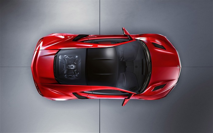 2015 Honda Red NSX Top View Auto HD Wallpaper Views:4492