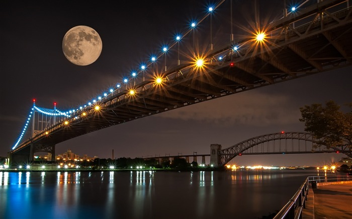 Beautiful Supermoon-Cities Desktop Wallpaper Views:3229
