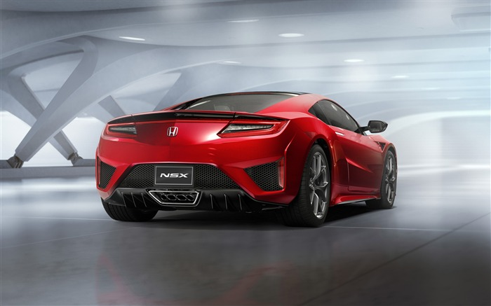 Honda 2015 Red NSX Back View Auto HD Wallpaper Views:3422