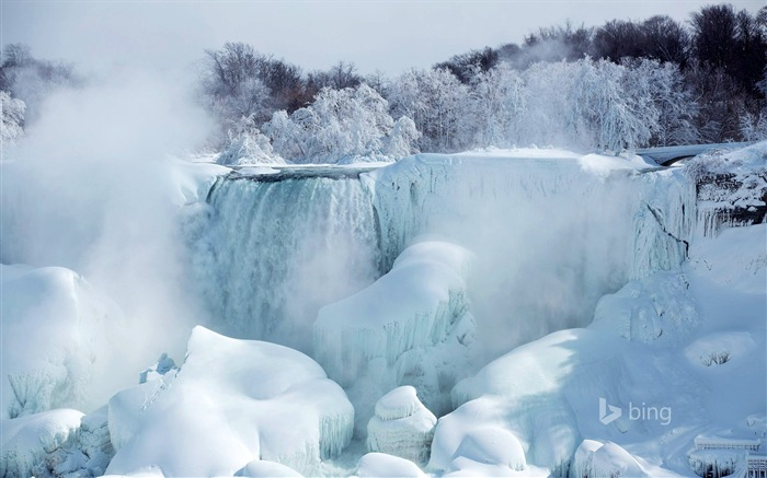 Melting of snow and ice waterfall-2015 Bing theme wallpaper Views:4322 Date:3/3/2015 6:55:00 AM