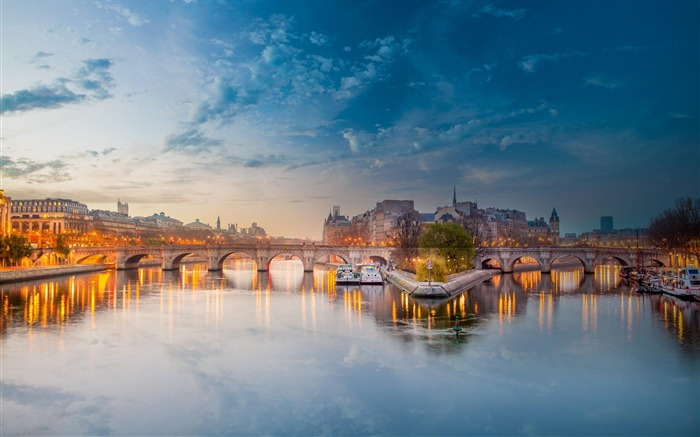 paris seine river bridge-Cities Desktop Wallpaper Views:3680