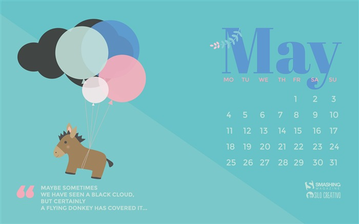 A Flying Donkey-May 2015 Calendar Wallpaper Views:2662