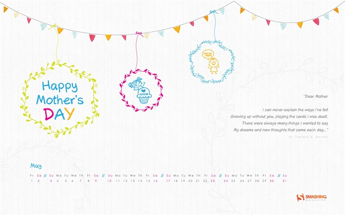 A Moms Hug-May 2015 Calendar Wallpaper Views:2418