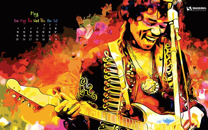 Are You Experienced-May 2015 Calendar Wallpaper Views:2632