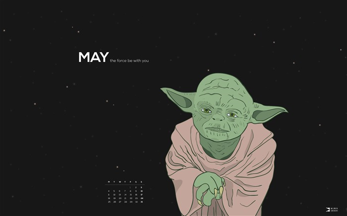 May The Force Be With You-May 2015 Calendar Wallpaper Views:2973
