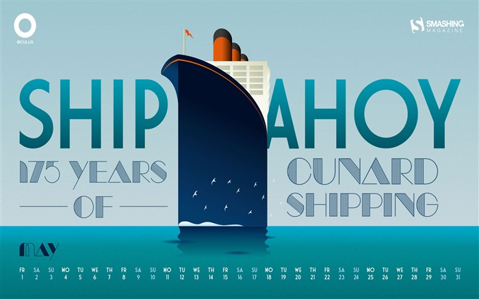 Ship Ahoy-May 2015 Calendar Wallpaper Views:3385