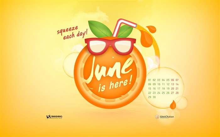 June 2015 Calendar Desktop Themes Wallpaper Views:16700