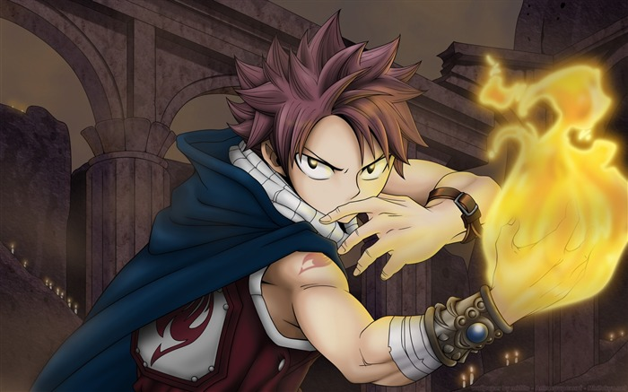 fairy tail man fire hand-Design HD Wallpaper Views:3099