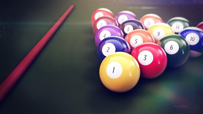 Colorful Billiards Table-High Quality HD Wallpaper Views:1855