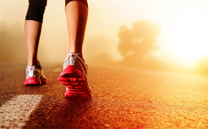 nike running and sunrise-High Quality HD Wallpaper Views:2698