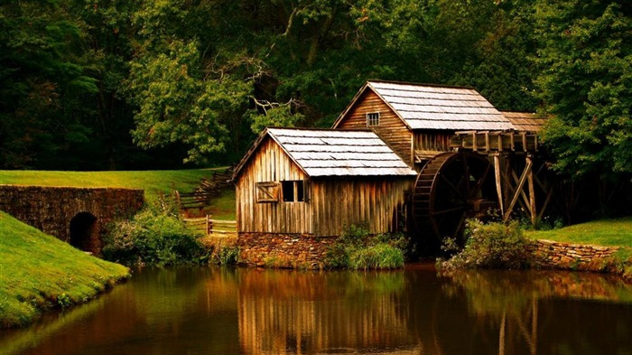 House WIth Watermill-HD Photoshoot Wallpaper Views:1554