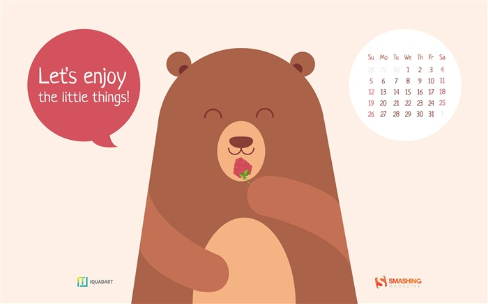 Lets Enjoy The Little Things-July 2015 Calendar Wallpaper Views:1946