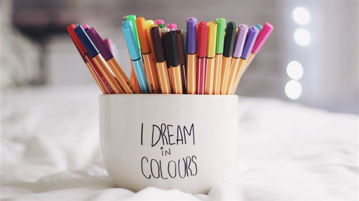 Pen cup dreams colorful-High Quality HD Wallpaper Views:1850