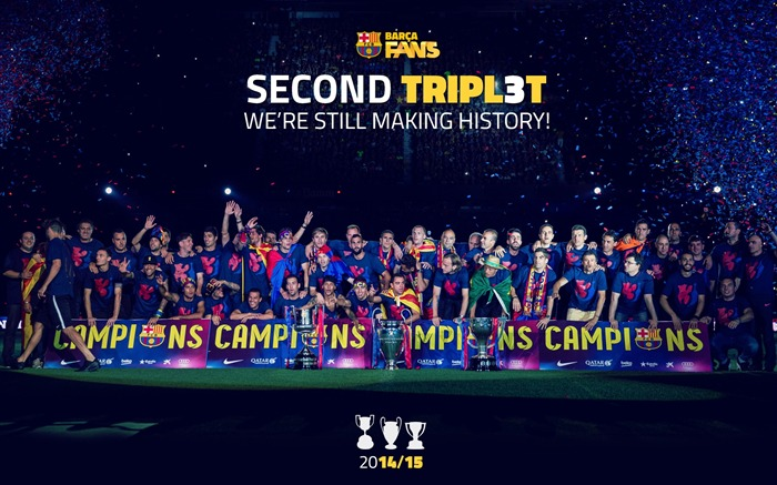 FC Barcelona Football Club 2015 HD Wallpaper Views:12084