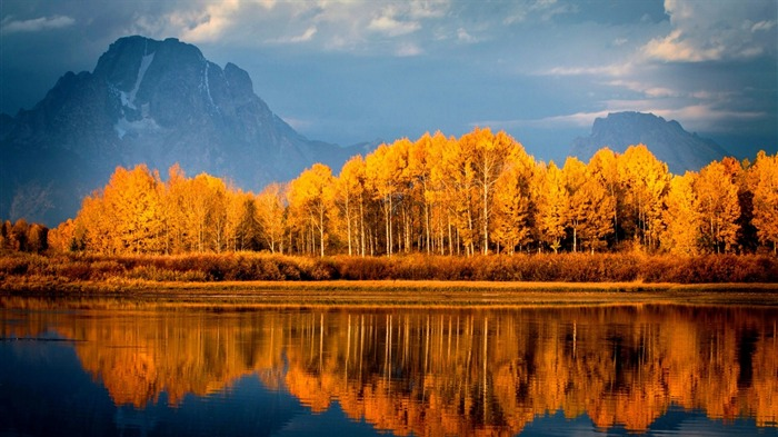 autumn lake trees mountains-Nature HD Wallpaper Views:5165 Date:8/1/2015 12:34:56 AM