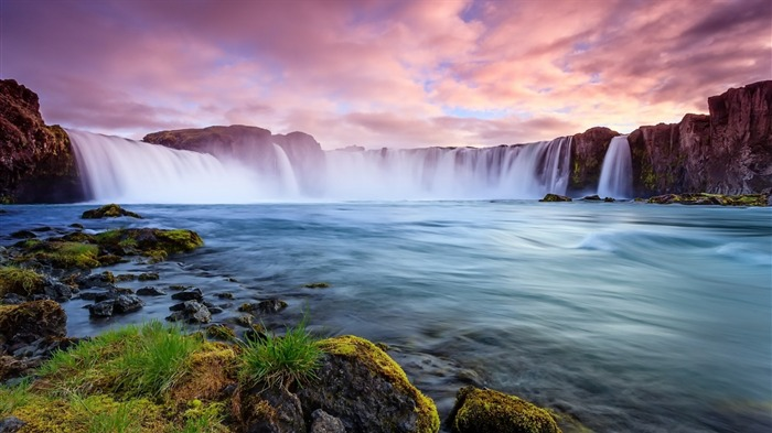 iceland river waterfall rocks-Nature HD Wallpaper Views:5836 Date:8/1/2015 12:31:35 AM