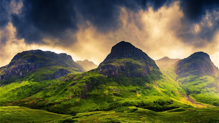 mountains clouds sky scotland-Nature HD Wallpaper Views:2352