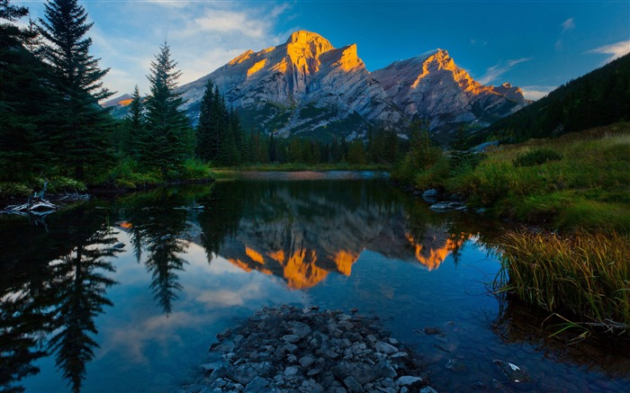 mountains sky reflection-Scenery HD Wallpapers Views:3204