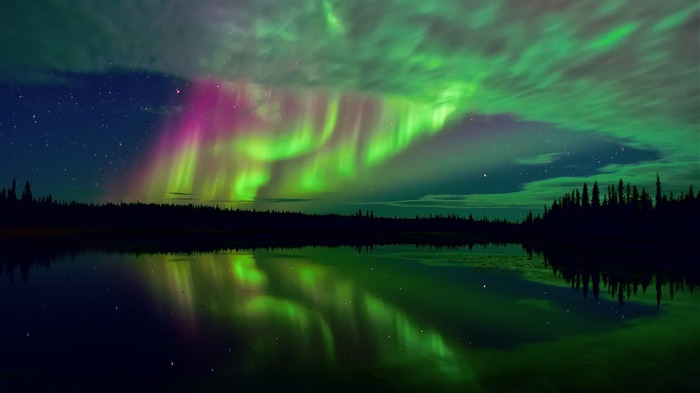 northern lights and stars-Nature HD Wallpapers Views:1877
