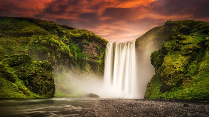 skogafoss waterfall iceland-Nature Wallpaper Views:2450