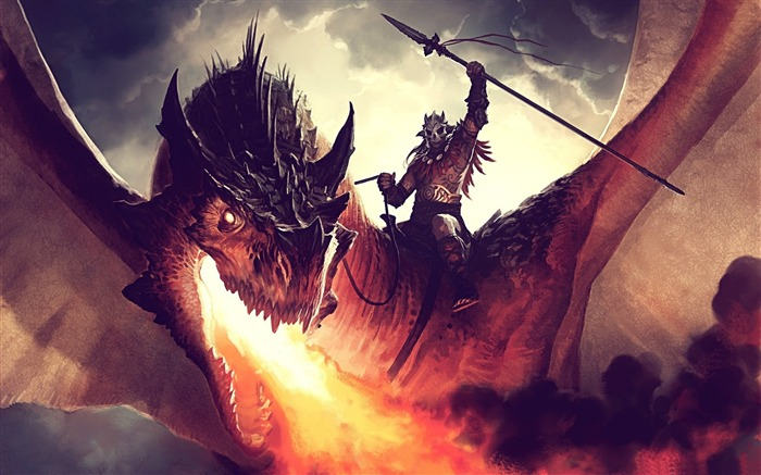 Fire breathing dragon-Design HD Wallpapers Views:3032