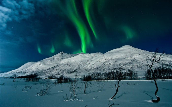 aurora borealis tromso norway-scenery HD Wallpaper Views:2685