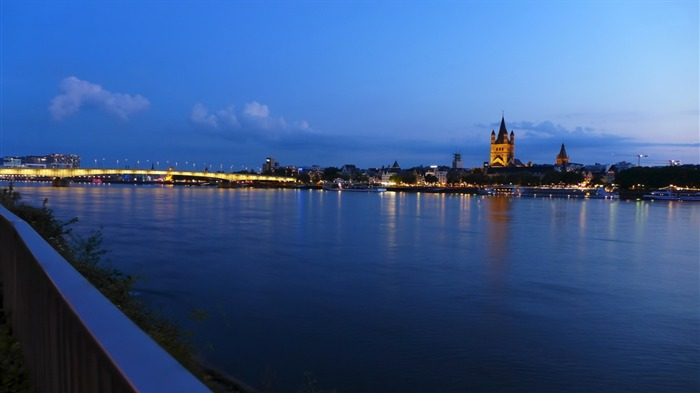 cologne city night-Travel Wallpaper Views:1485
