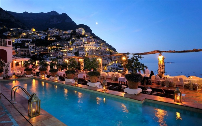 lights in amalfi-Travel Wallpaper Views:2450