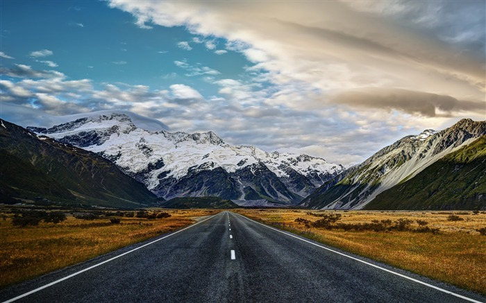 road to mount cook-scenery HD Wallpaper Views:2406