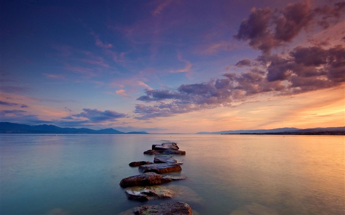 stones sea clouds silence-Photography HD wallpaper Views:1781