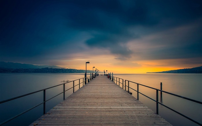 wooden pier towards-Photography Wallpaper Views:1250