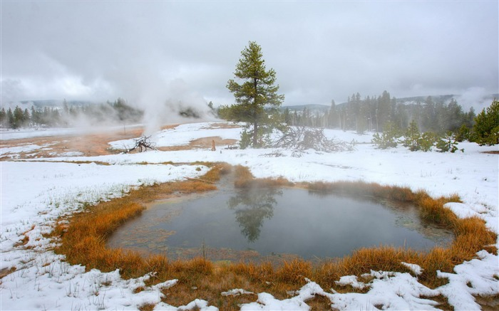 yellowstone hot lakes-scenery HD Wallpaper Views:1279