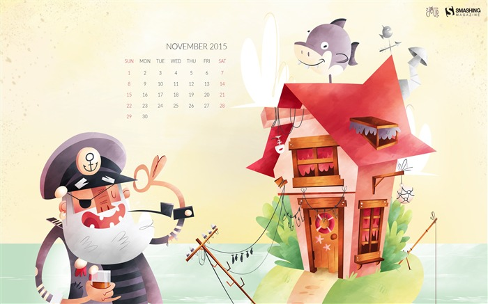 November 2015 Calendar Desktop Themes Wallpaper Views:5391