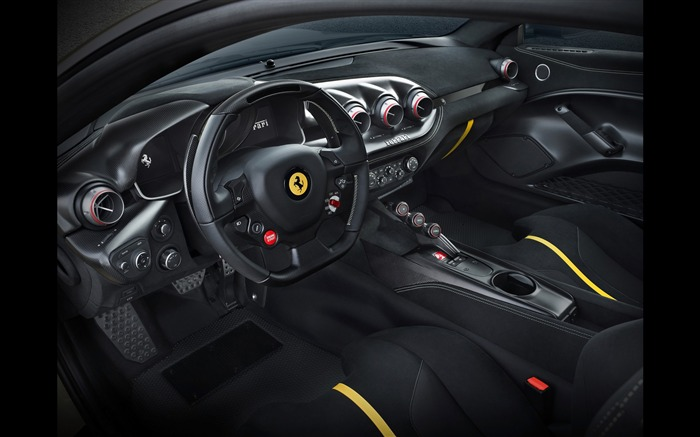 2016 Ferrari F12tdf Yellow HD Wallpaper 06 Views:2139
