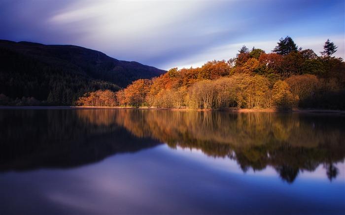 Autumn tranquility lakes HD Widescreen Wallpaper medium
